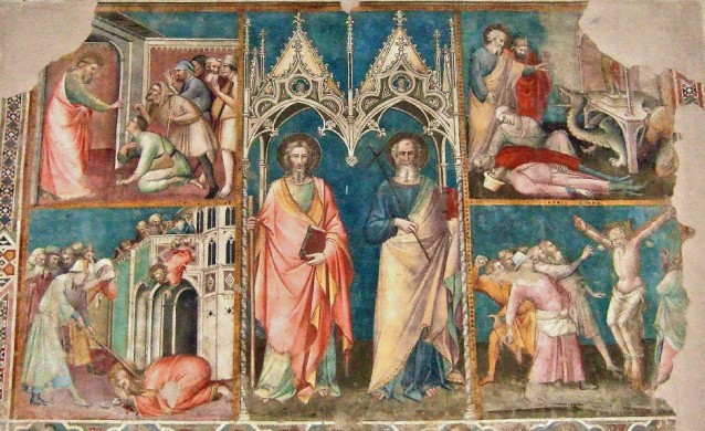 May 1 - Saint James and Saint Philip with episodes of their lives, c. 1399. Fresco, Chiesa di San Domenico, Arezzo