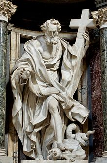 May 1 - Statue of Philip in the Archbasilica of St. John Lateran by Giuseppe Mazzuoli.
