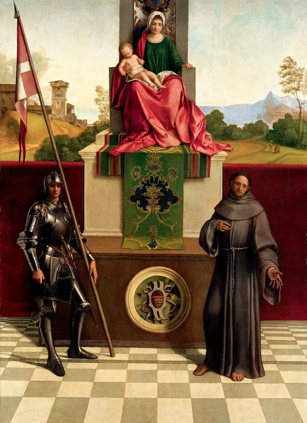 St. Francis and St. George with Madonna - Giorgio Barbarelli