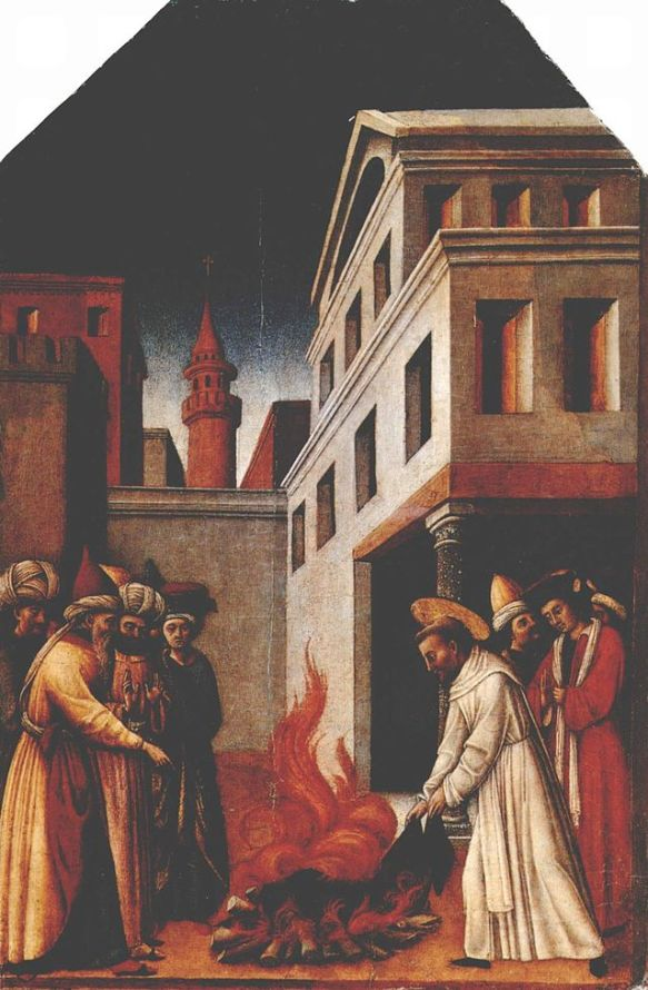 The fire miracle of Saint Peter Martyr by Antonio Vivarini