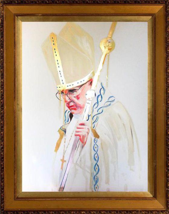 Devil in the Details. Sara's portrait will hang alongside Renaissance masterpieces!!
