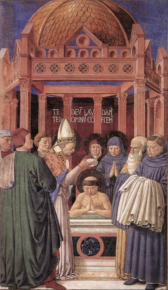 Baptism of St Augustine,  GOZZOLI, Benozzo