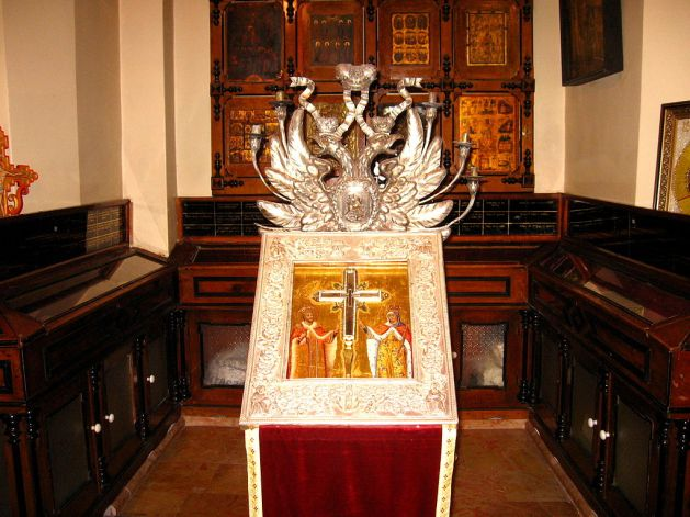 May 3 - Reliquary of the True Cross at the Church of the Holy Sepulchre, Jerusalem