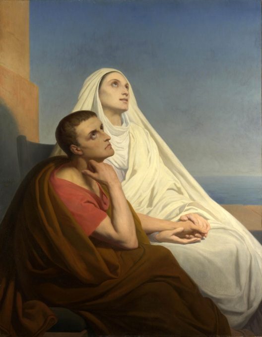 Saint Augustine and his mother, Saint Monica