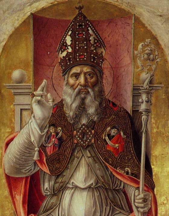 St Ambrose Polyptych (detail) 1477. Tempera on wood