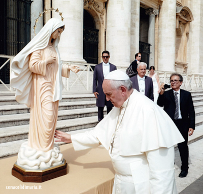 Bergoglio blesses another Medjugorje statue!