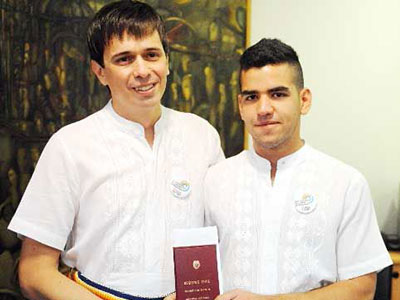 Gay Activist Simón Cazal with his husband Sergio López