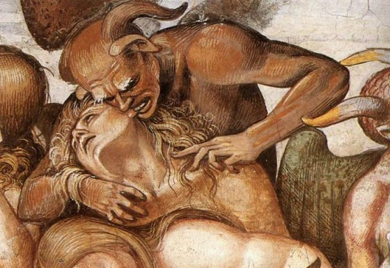 Luca Signorelli, Sermon and Deeds of the Antichrist (detail)