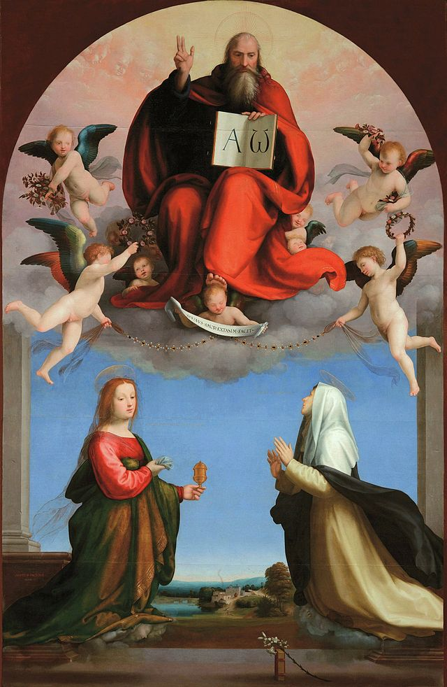 God the Father with Sts. Catherine of Siena and Mary Magdalen by Fra Bartolomeo