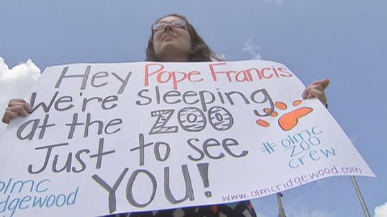 Bergoglio's dedicated fans...