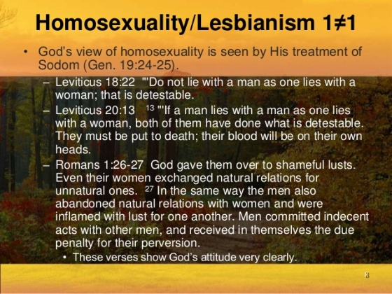 SODOMY AN ABOMINATION TO GOD