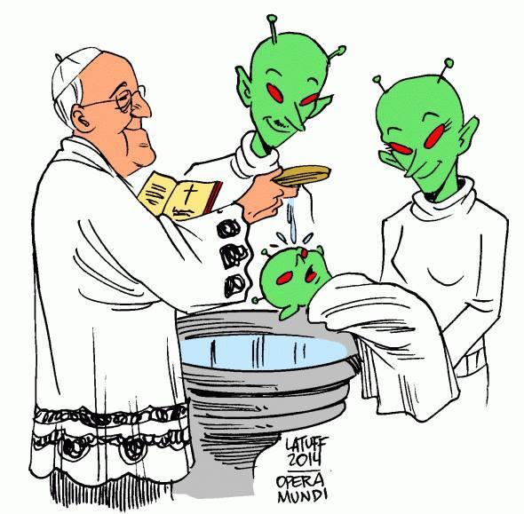 francis baptizing aliens