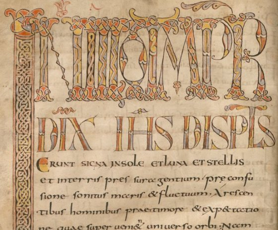 Manuscript of the homilies on the Gospels by Pope Gregory I