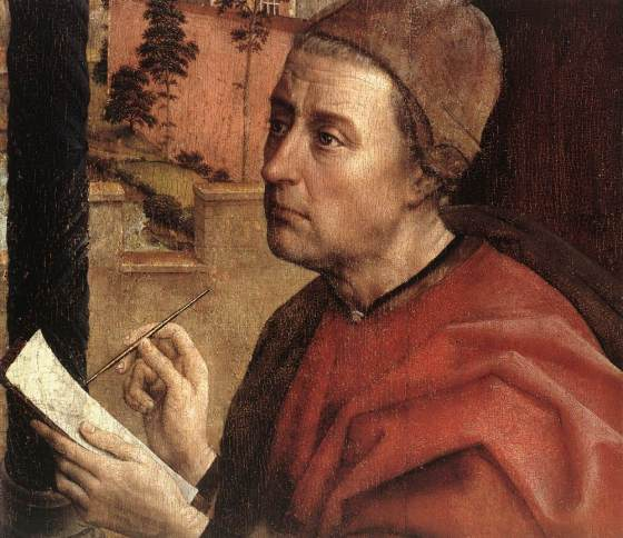 St Luke Drawing a Portrait of the Madonna (detail)