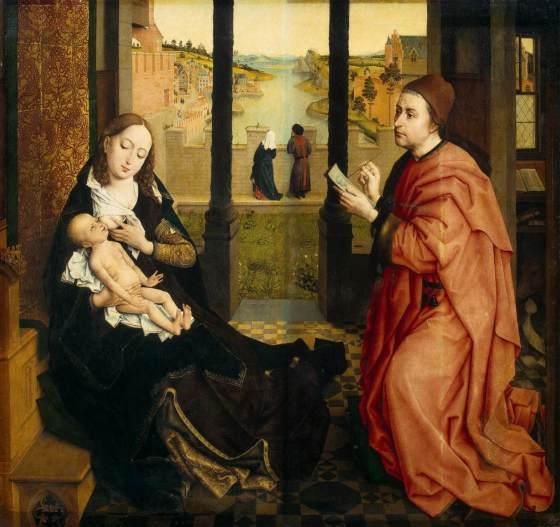 St. Luke Drawing a Portrait of the Virgin by Rogier van der Weyden - 1435–1440