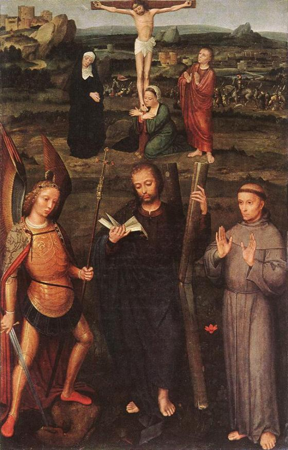 Archangel St Michael, St Andrew and St Francis of Assisi, ISENBRANT, Adriaen