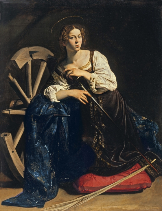 Catherine wheel by Michelangelo Caravaggio Full Image