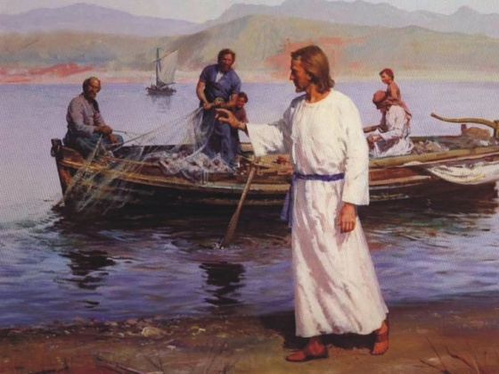 JESUS CALLS HIS FIRST DISCIPLES SIMON WHO IS CALLED PETER AND BROTHER ANDREW