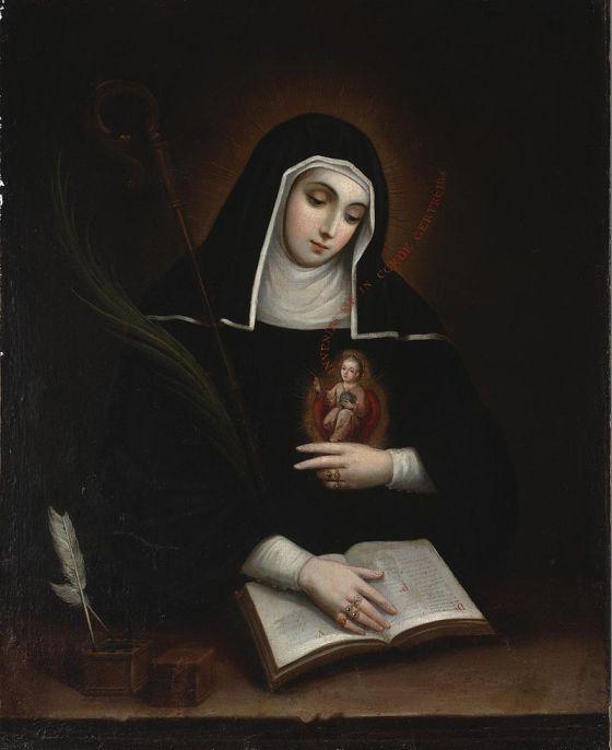 Saint Gertrude by Miguel Cabrera, 1763