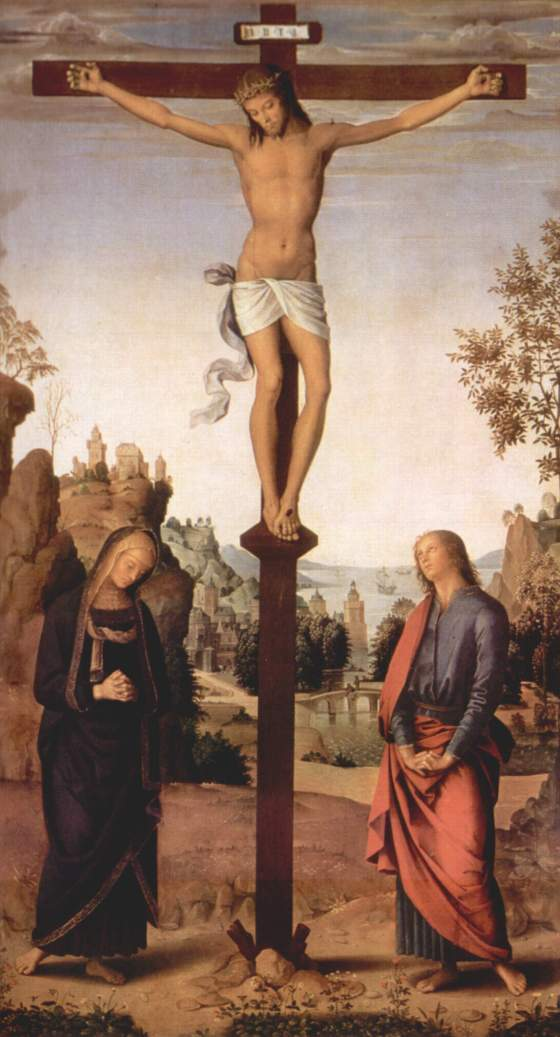 Madonna and St. John at the Crucifixion of Jesus by Pietro Perugino