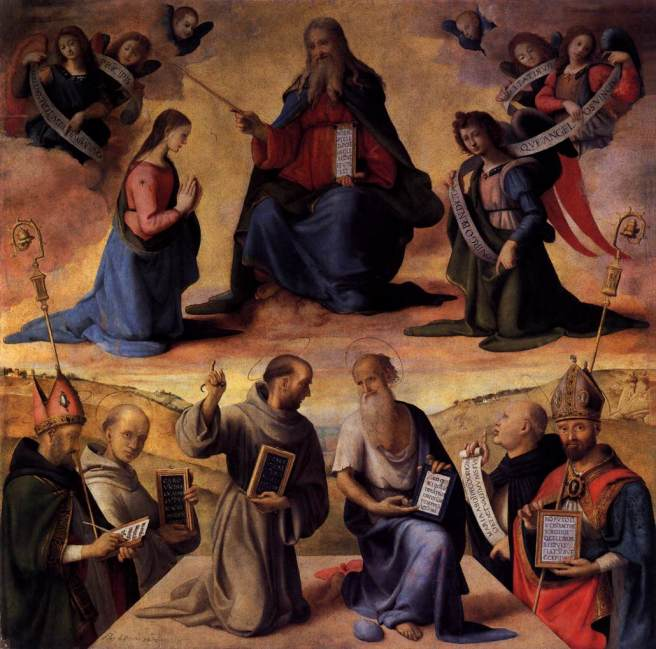 The Immaculate Conception with Saints by Piero di Cosimo