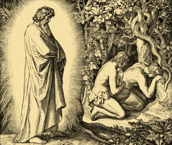 Adam and his wife hid themselves from the face of the Lord God, amidst the trees of paradise. Genesis 3. 8 DRB