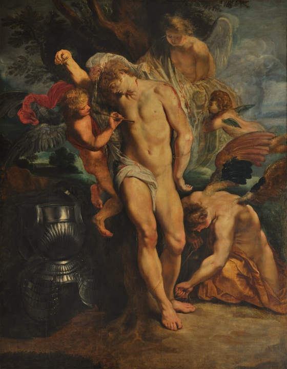 Angels take pity on St. Sebastian by Peter Paul Rubens
