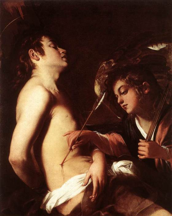 St Sebastian Healed by an Angel by Giovanni Baglione