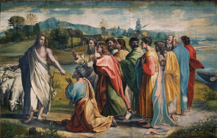 Christ's Charge to Peter - The Primacy of Peter by Raphael - 1515