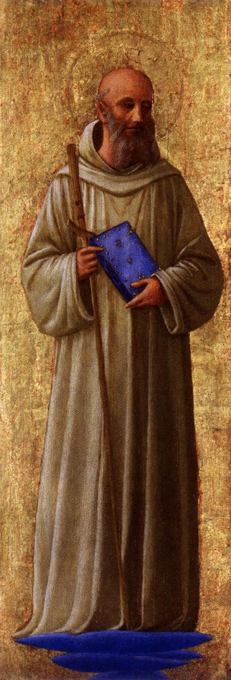 February 7. San Romualdo, from the San Marco altarpiece by Fra Angelico