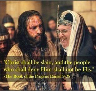 Jesus is betrayed by Judas 'Bergoglio'