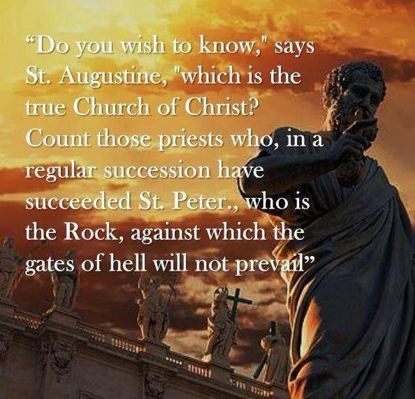 QUOTE BY AUGUSTINE ON ST. PETER