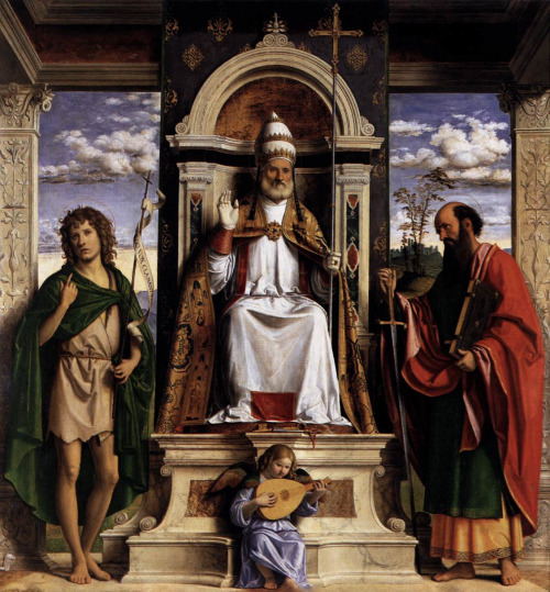 St. Peter Enthroned with Sts. John the Baptist and Paul by Cima Da Conegliano