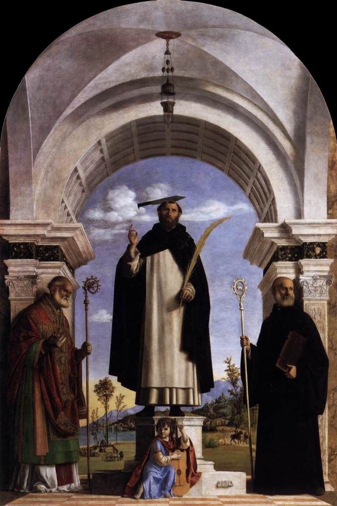 St Peter Martyr with St Nicholas of Bari, St Benedict and an Angel Musician