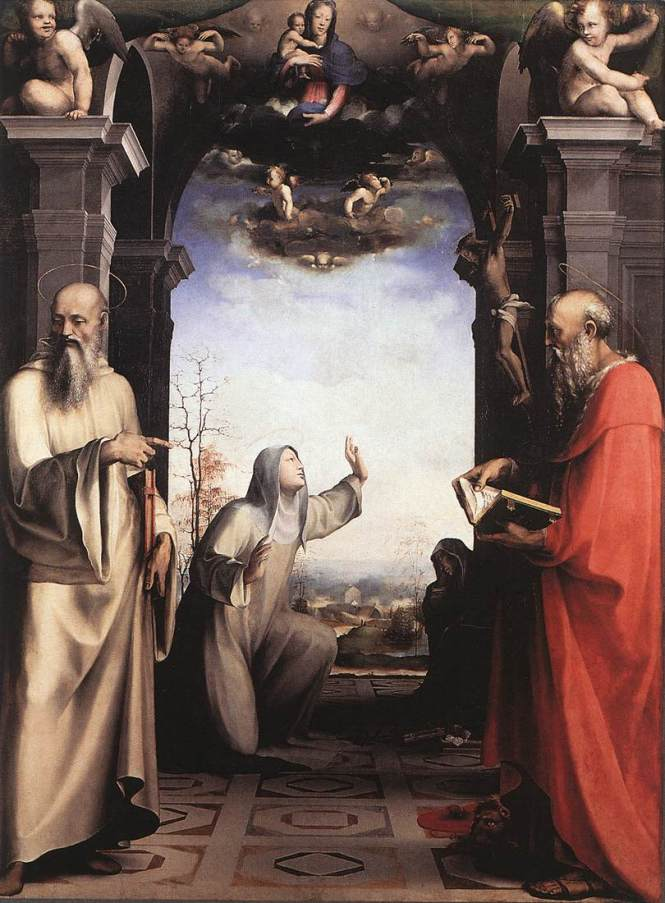 Stigmatization of St Catherine of Siena by Domenico Beccafumi, c. 1515