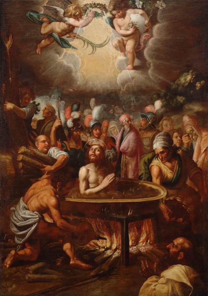 Martyrdom of St John the Evangelist by Juan de Roelas
