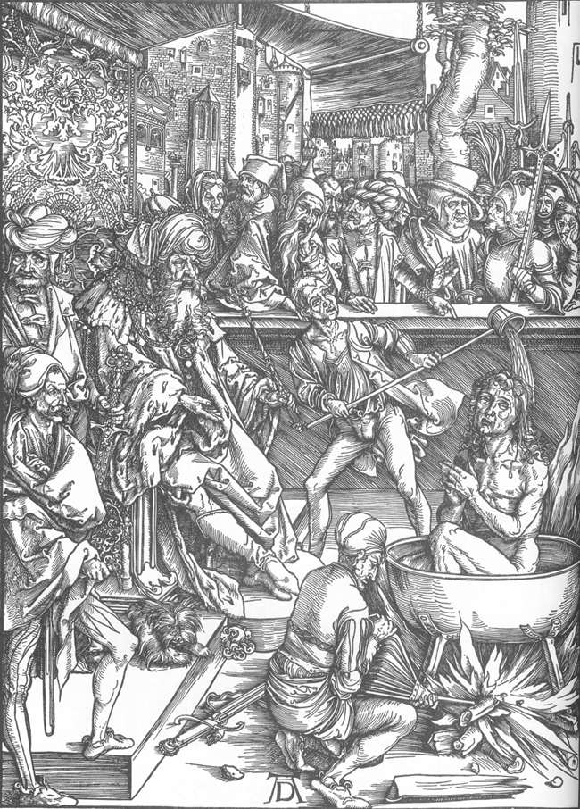 The Martyrdom of St John the Evangelist by Albrecht Durer - 1497-98 - Woodcut