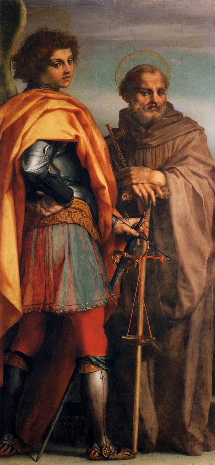 St. Michael and St. Gualbert by Andrea del Sarto WGA