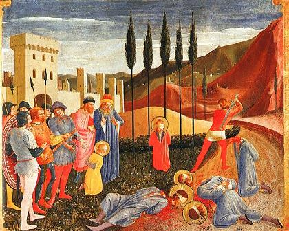 The martyrdom of Ss. Cosmas and Damian by Fra Angelico