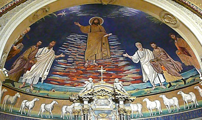 thursday-iii-of-lent-the-apse-of-the-church-of-ss-cosmas-and-damian-rome-7th-century-paul-and-peter-present-the-martyrs-to-christ